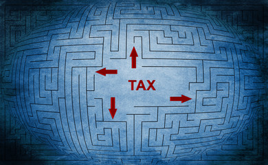 Tax maze concept
