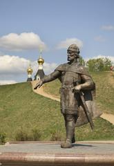 Памятник Юрию Долгорукому в Дмитрове. Россия
