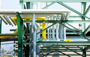 line Pipes on a gasplant