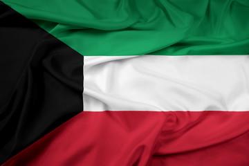 Waving Kuwait Flag