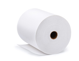 Large roll of blank paper