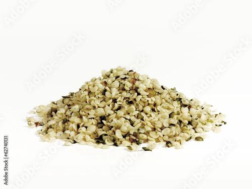 Leinwandbild Motiv Hemp seeds superfood
