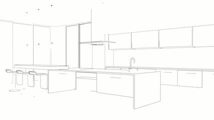 Animation Küchenzeichnung