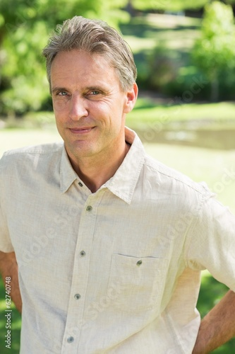 Confident man standing in park