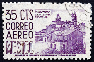 Postage stamp Mexico 1950 Guerrero, View of Taxco