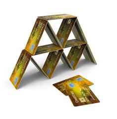 Pirámide de Tarjetas de Crédito