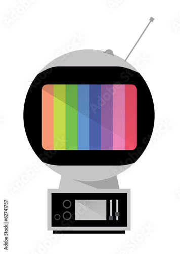 Space Age TV. Retro Television. vector
