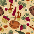 Seamless pattern for wine, wineries and restaurants.
