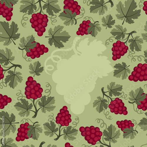 Background design with grapes.