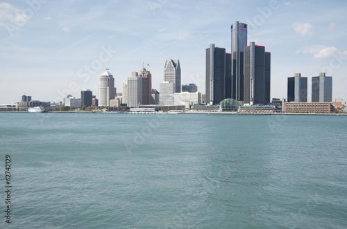Fotobehang Grote meren Detroit Skyline