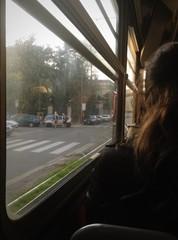 in tram a Milano