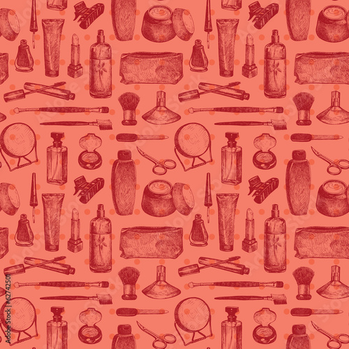 Cosmetics And Beauty Seamless Pattern