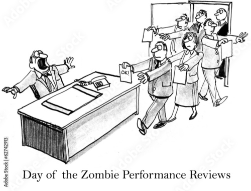 Day of the zombie job seekers with resumes