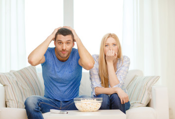 upset couple after sports team loss