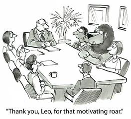 Motivational roar