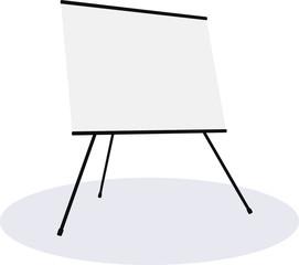 Empty presentation flipchart board