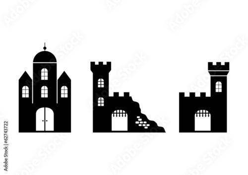 Castle black icons