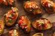 Homemade Italian Bruschetta Appetizer