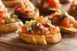 Leinwandbild Motiv Homemade Italian Bruschetta Appetizer