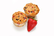 Perfect Berry Muffins with a Fresh Strawberry