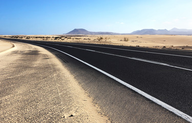 Road across the desert
