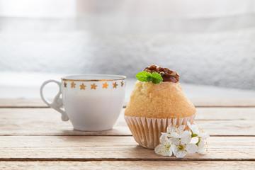 cupcake con cafe