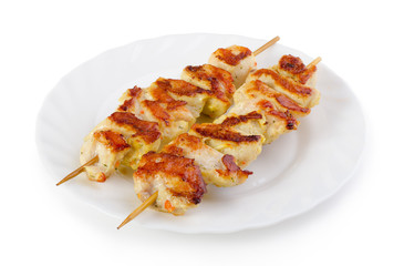 Two grilled skewers