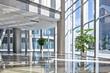 Leinwanddruck Bild - empty hall in the modern office building.
