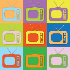 Farbige TVs