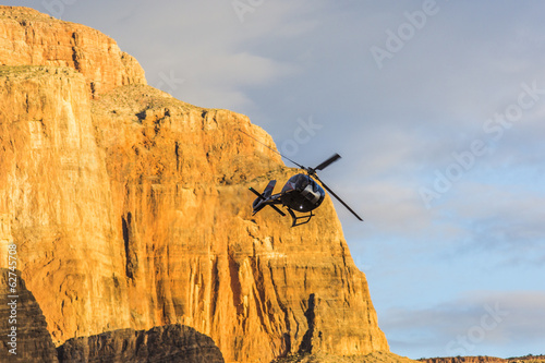 Foto op Plexiglas Luchtsport Grand Canyon sunset helicopter view