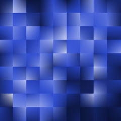 Blue background with squares