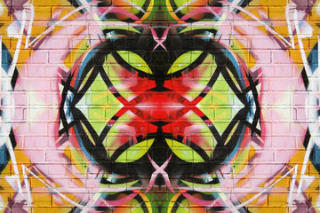 Colourful kaleidoscope graffiti