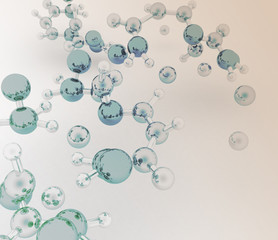 3d render of molecule background