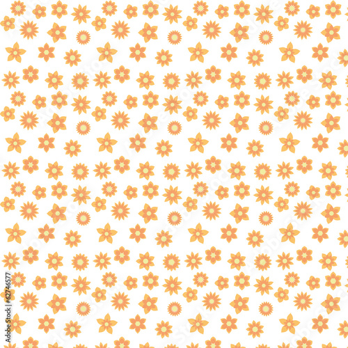 yellow flowers with different shapes floral seamless pattern