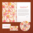Floral pattern vector business style template