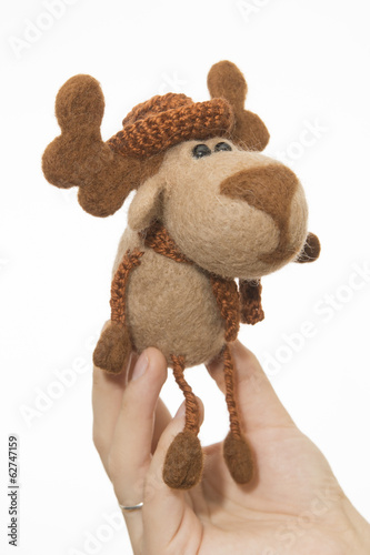 Toy elk in a gift