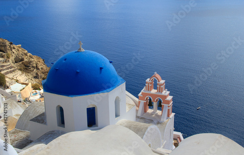Blue Domed Church - Santorini