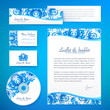 Floral theme business style vector template