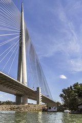 Suspension Bridge Over Ada Girder With Stairs and Pylon Detail -