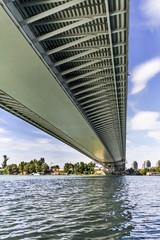 Suspension Bridge Over Ada Girder Lower Framework Grid Detail -
