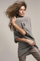 Fashion shoot of beautiful woman