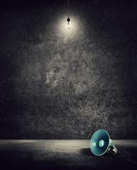 megaphone empty room