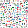 Soccer background Icons set. Illustration eps10