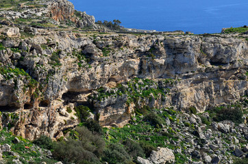 Dingli cliffs on island Malta
