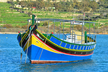 colored fishing boat,Malta island