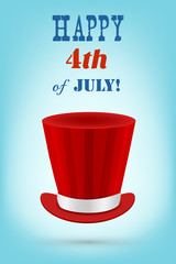 Independence day vector greeting card (4th of July celebration)