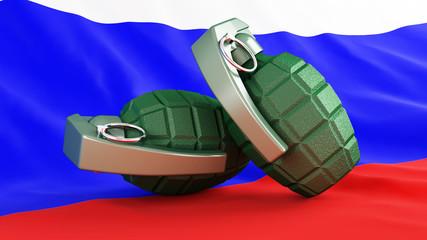 Grenades flag Russia
