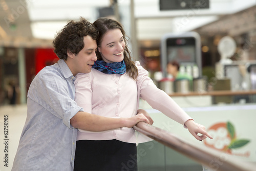 Love couple in shopping center
