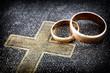 Leinwandbild Motiv Marriage (macro photo)