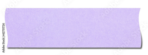 Violet rectangular sticky note isolated, with shadow